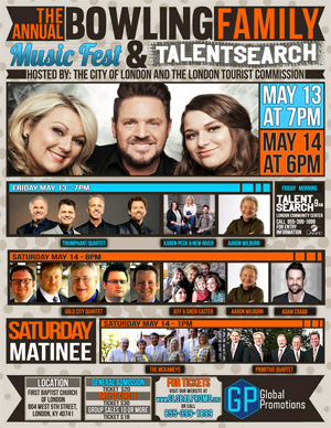 Bowling Family Announces Annual Music Fest and Talent Search 2015